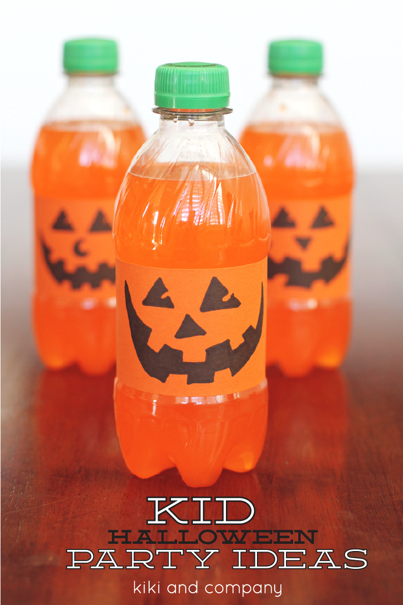 Orange Pumpkin drinks Halloween idea - Kiki & Company