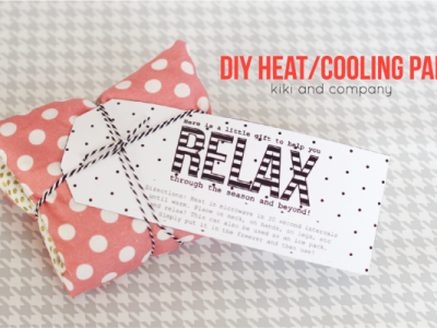 DIY Heating and Cooling Pad at kiki and company. Perfect neighbor gift