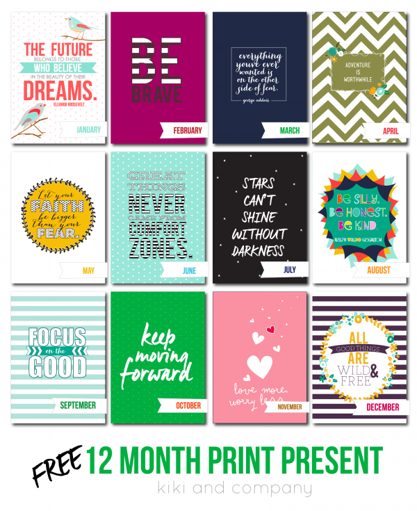 12 month print christmas present free printables kiki company