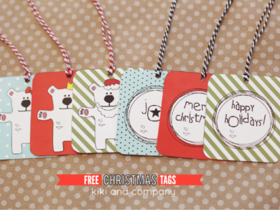 Free Christmas Tags from Kiki and Company. Love these.