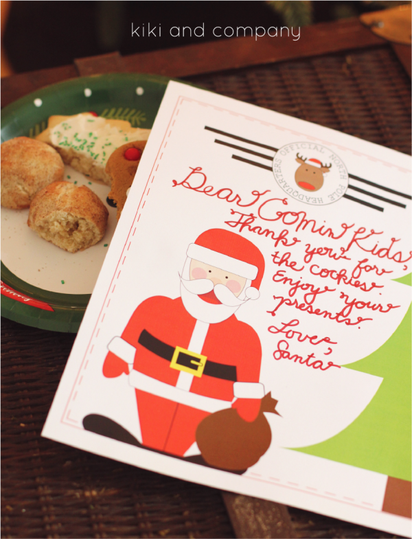Free Printable Santa Stationary from kiki and company
