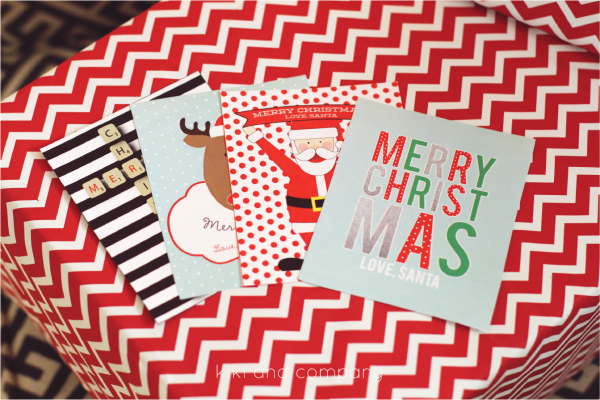 Free Printable Santa Tags from kiki and company. SO cute
