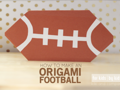 Make your own Origami Football at kiki and company