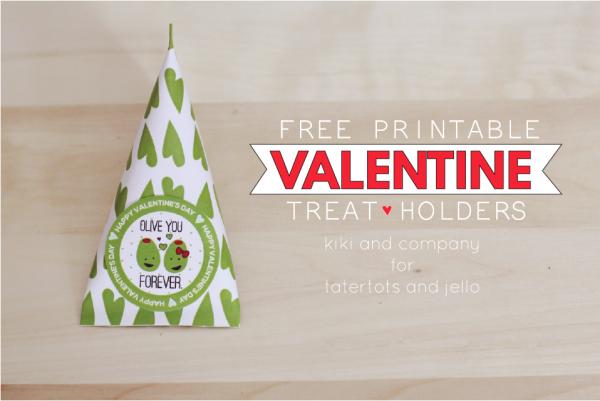 Free Printable Valentine Treat Holders