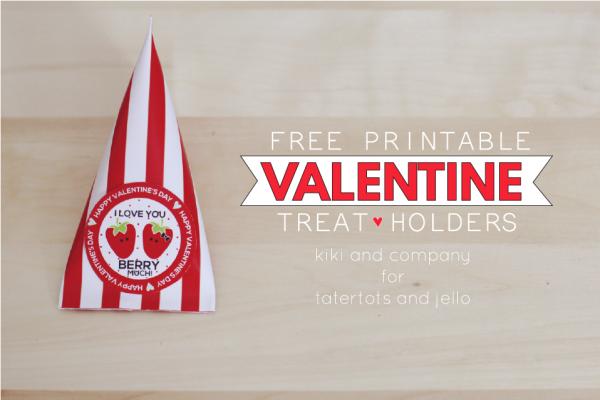 Free Printable Valentine Treat Holders. SO cute!