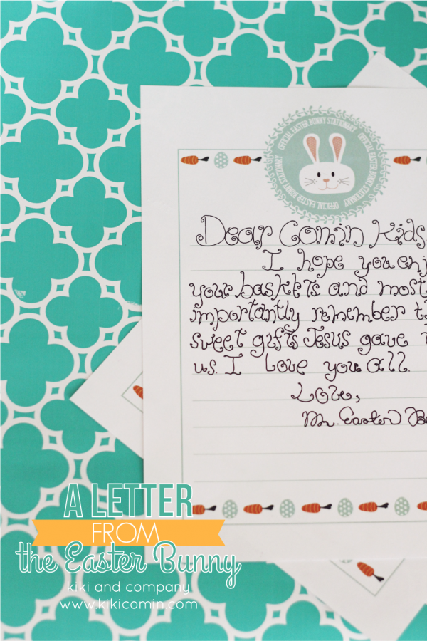 A Letter from the Easter Bunny. Cute!