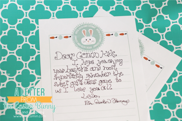 A Letter from the Easter Bunny.  My kids will love this!