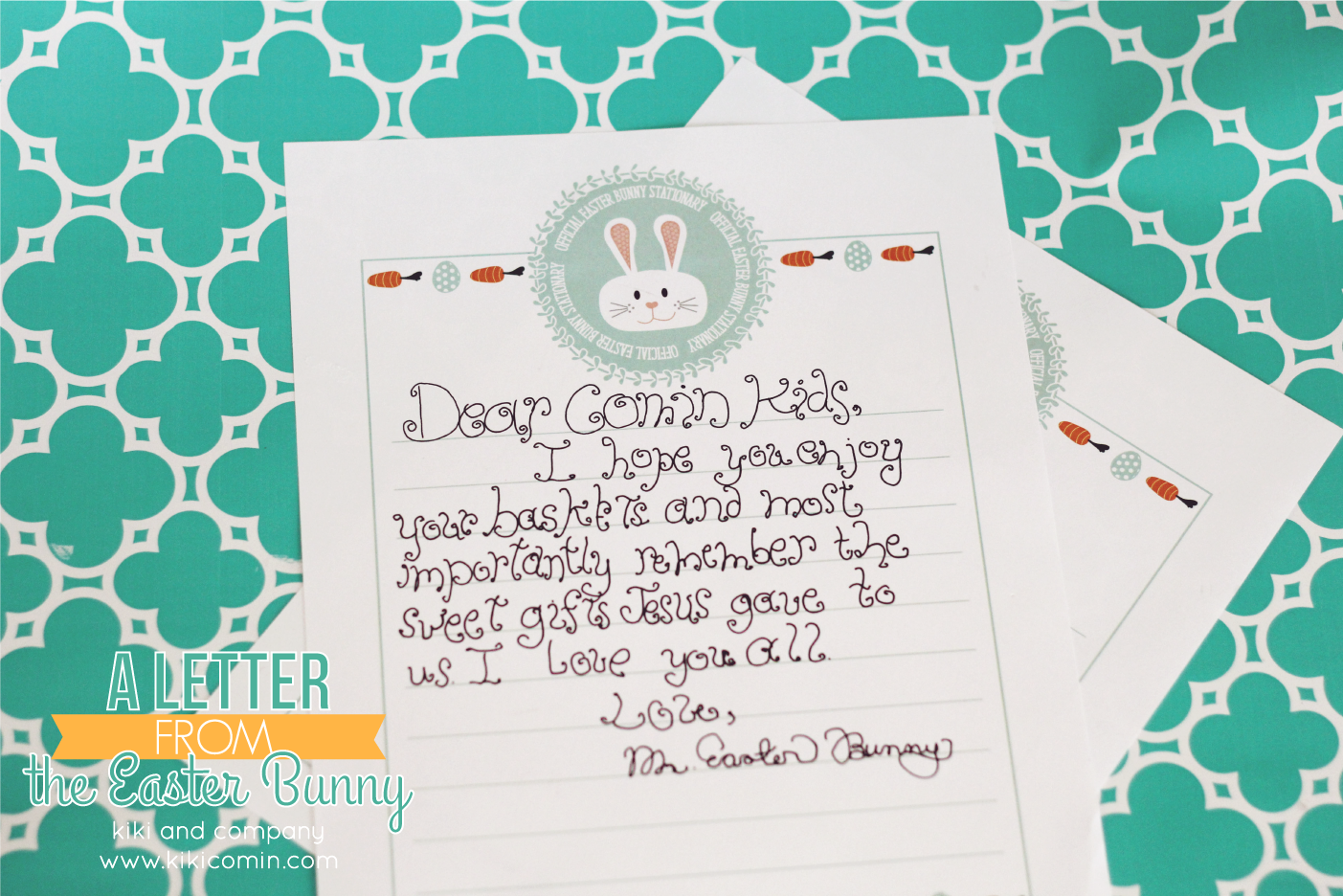 a letter from the easter bunny my kids will love this