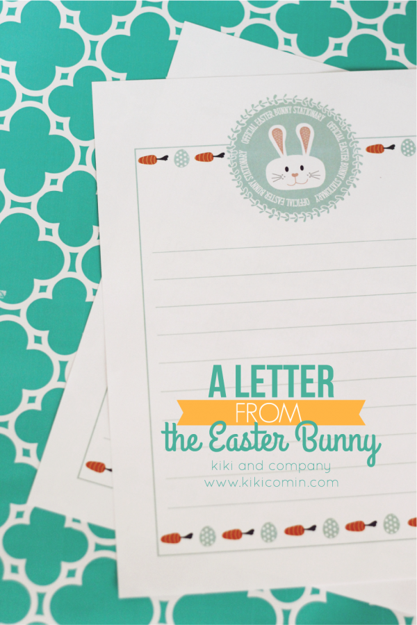 a letter from the easter bunny so cute