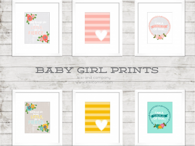 Baby Girl Prints by kiki and company
