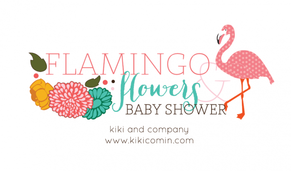 Flamingo and Flowers Baby Shower