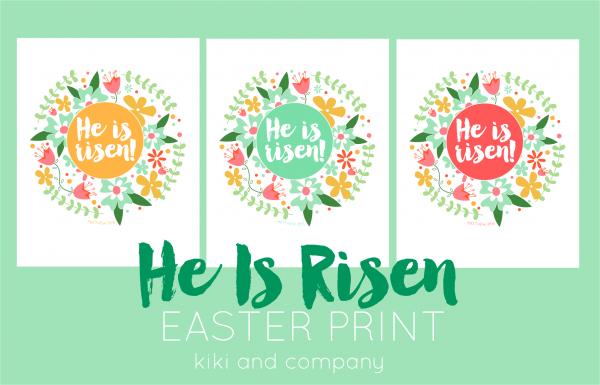 He Is Risen Easter Prints New Printable Kiki Amp Company