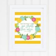 Because I live merigold stripe frame