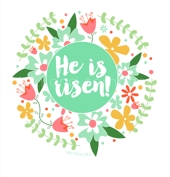 Clever image regarding he is risen printable