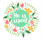 He is risen print mint