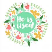 He is risen print mint
