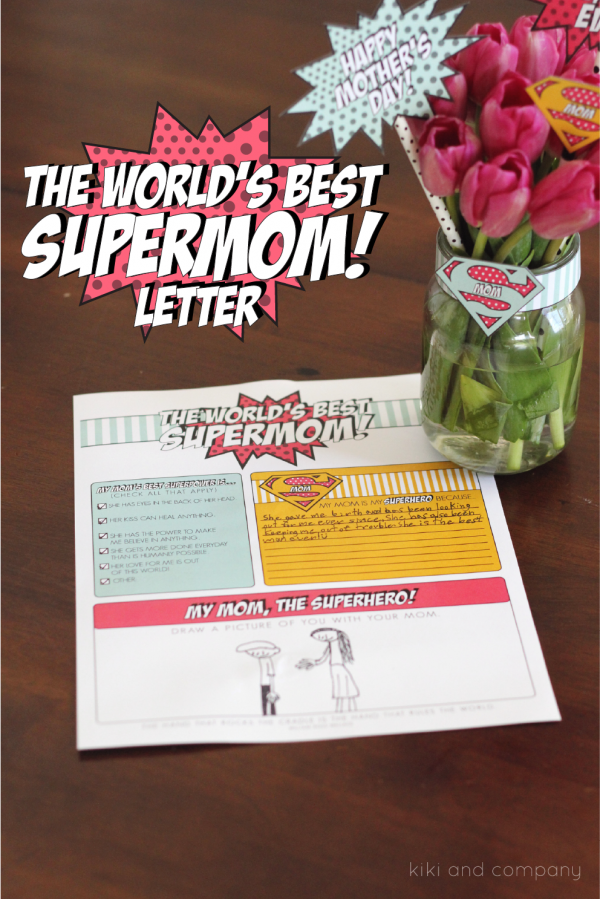 The World's Best Supermom Letter for Mother's Day