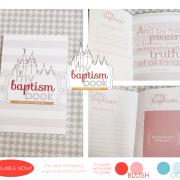 baptism book blush