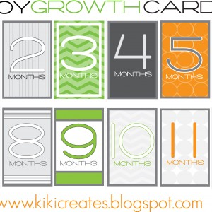 boy growth cards