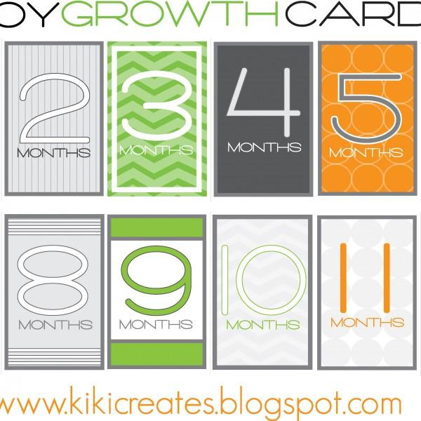 boy growth cards