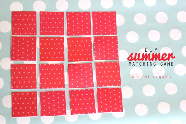 DIY Summer Matching Game. Cute!