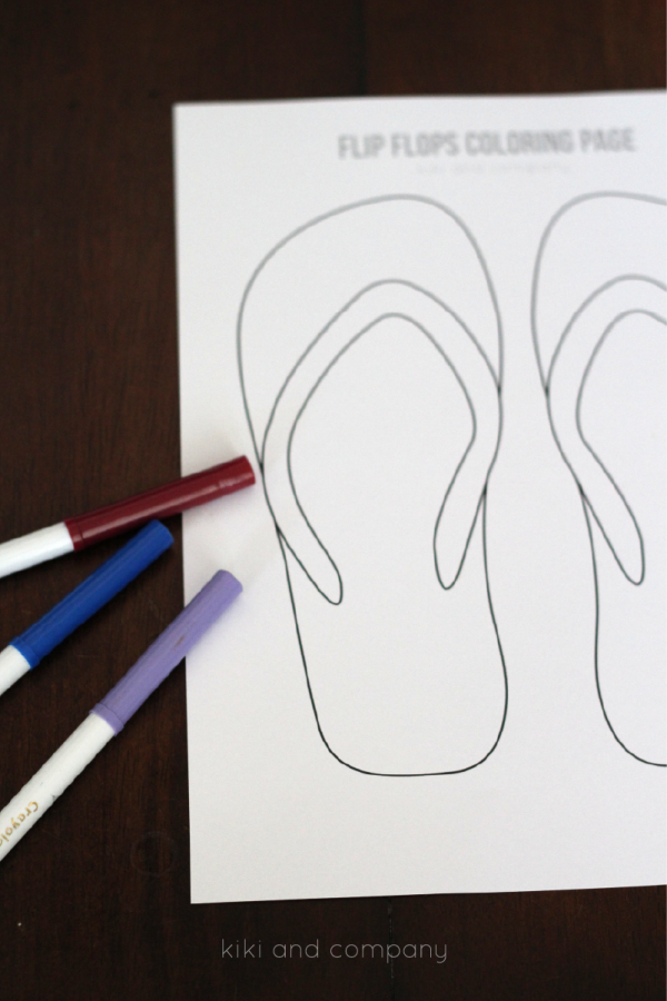 Free Flip Flops Coloring Page