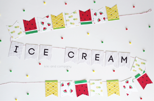 Ice Cream Banner at kiki and company. Love this!