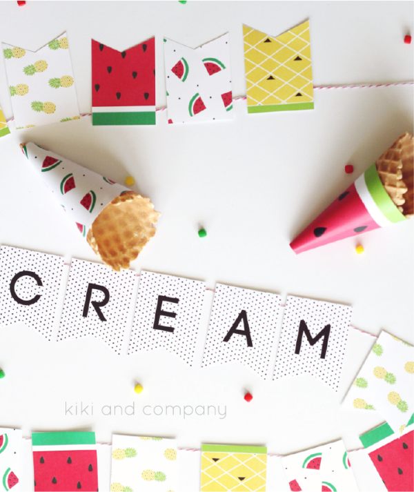Ice Cream Banner at kiki and company. Sweet!