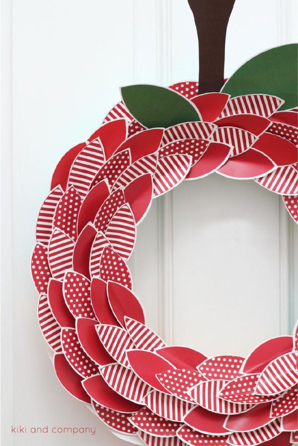 Apple Wreath from kiki and company. Love!