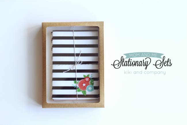 Free Mom and Me Stationary Sets from Kiki and Company. Cute!