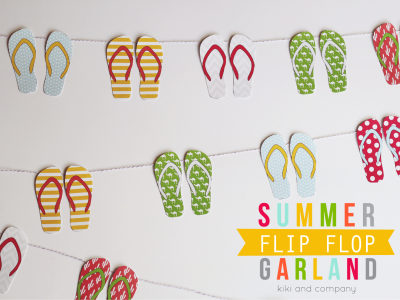 Summer Flip Flop Garland from kiki and company