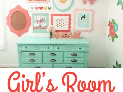 Girl's Room Gallery Wall at kiki and company