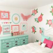 Girl's Room Makeover at Kiki and Company.