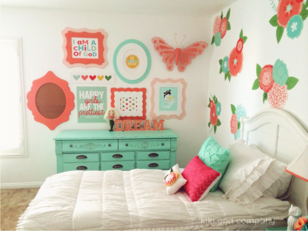 Girl's Room Makeover at Kiki and Company. 4