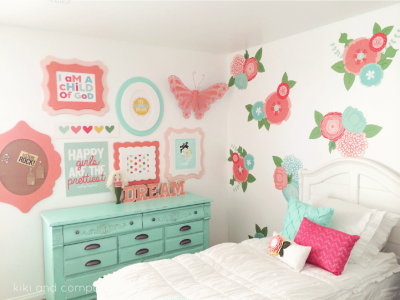Girl's Room Makeover at Kiki and Company.