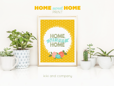 Home Sweet Home Print from Kiki and Company. Cute!