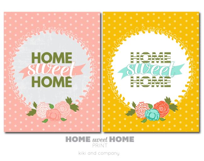 Home Sweet Home Prints from kiki and company