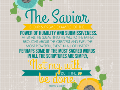 The Savior- August 2015 Visiting Teaching