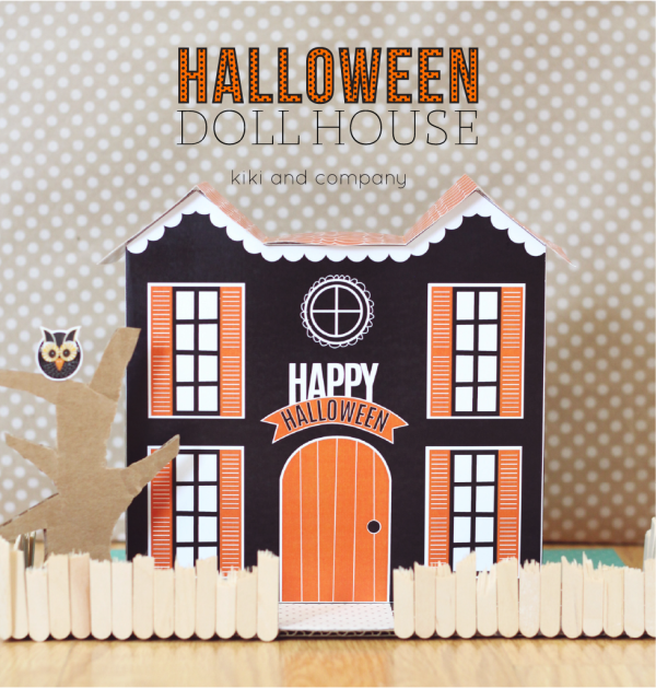 Halloween Doll House from kiki and company