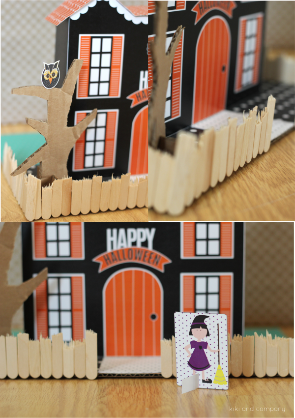 Halloween Doll House from kiki and company. My kids will love this!