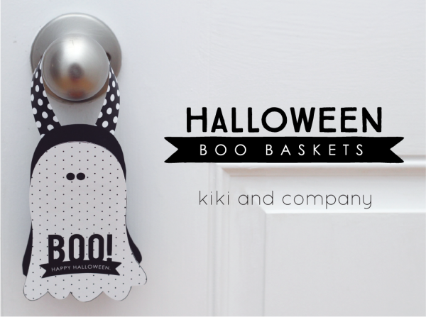 Halloween Printable - Super cute Halloween Baskets perfect to share treats for class parties or use them as Halloween Party Favors.