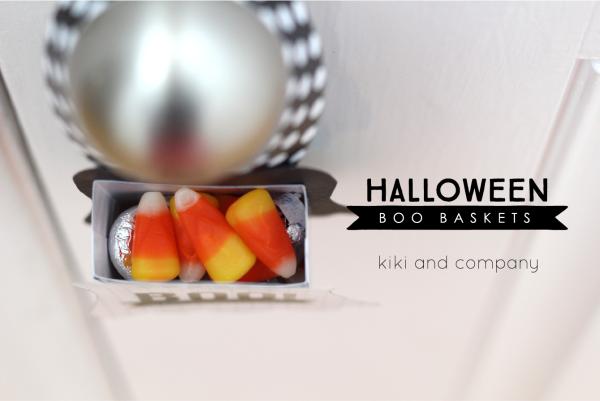 Halloween Boo Baskets from kiki and company. SO fun!