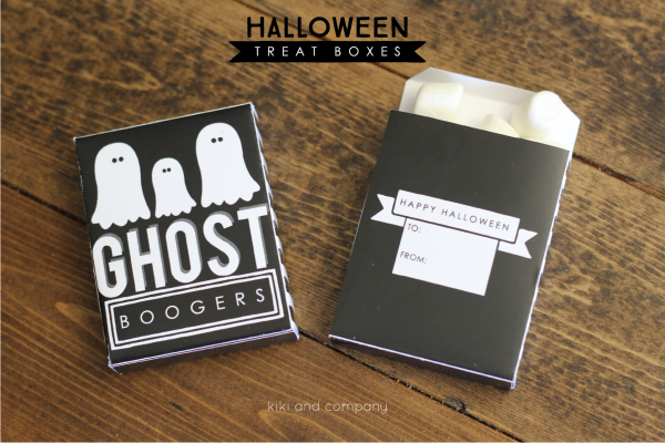 Halloween Treat Boxes from Kiki and Company. My kids will love these!