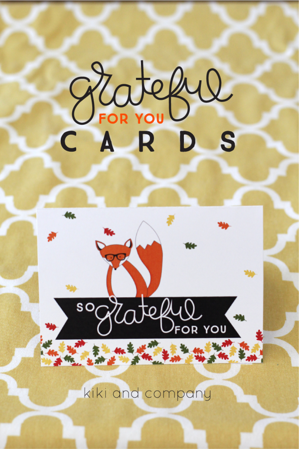 Grateful for you cards from kiki and company. Super cute and great idea!