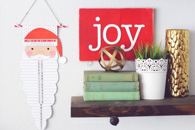 Santa Countdown from kiki and company. Cute!
