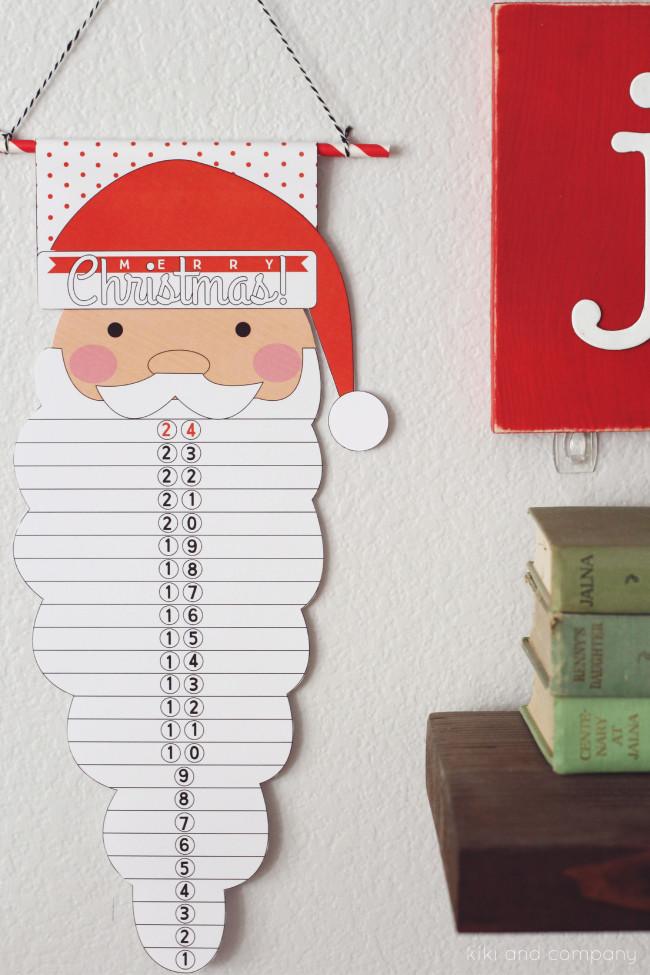 Santa Countdown from kiki and company. Love this!