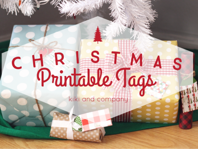 Christmas Printable Tags from kiki and company.