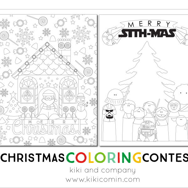 christmas coloring contest with prizes at kiki and company
