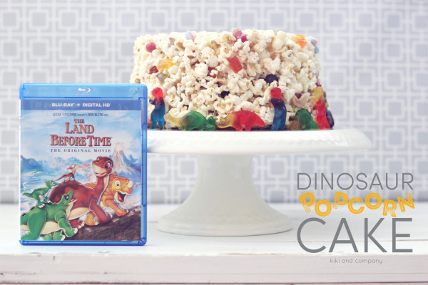 Dinosaur Popcorn Cake at kiki and company. LOVE this idea!