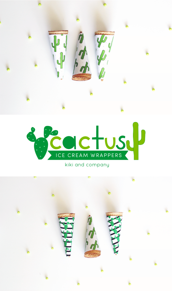 cactus party printables from kiki and company